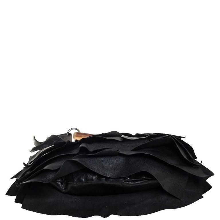 Yves Saint Laurent Black Leather St. Tropez Mombasa Hobo For Sale 5