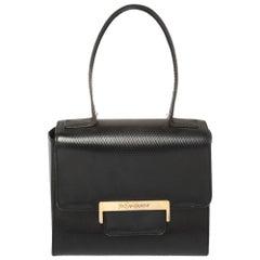 Yves Saint Laurent Black Leather Top Handle Bag