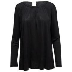 Yves Saint Laurent Black Long Sleeve Top