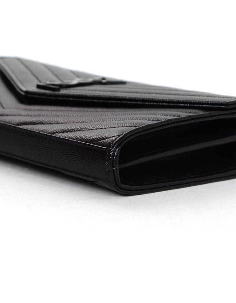 3ae331a9aeed Yves Saint Laurent Black On Black Caviar Leather Grain De Poudre ...