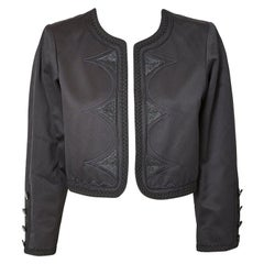 Yves Saint Laurent Black on Black Cropped Jacket