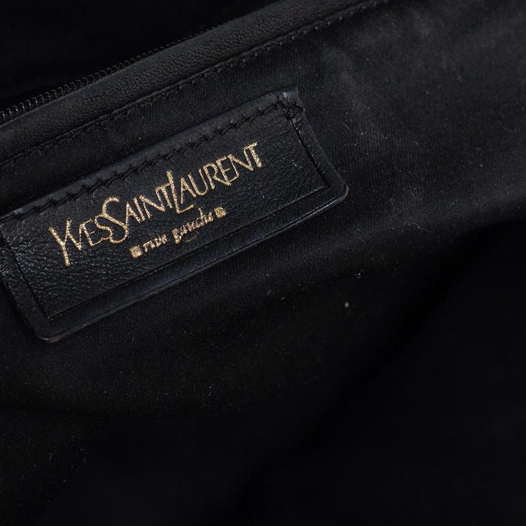 Yves Saint Laurent Black Patent Leather Large Downtown Tote For Sale 4