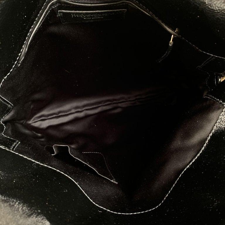 Yves Saint Laurent Black Patent Leather Metropolis Tribute Tote Bag 2
