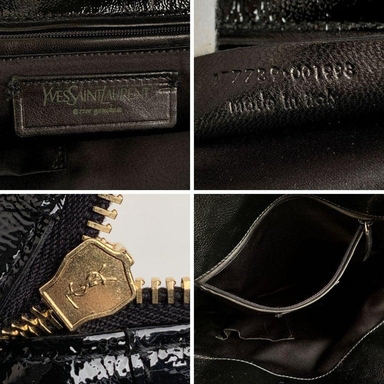 Yves Saint Laurent Black Patent Leather Metropolis Tribute Tote Bag 3