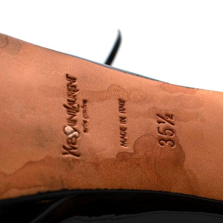 Yves Saint Laurent Black Patent Leather Platform Mary Janes - Size 35.5 For Sale 2
