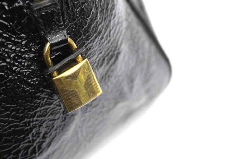 Yves Saint Laurent Black Patent Leather Shoulder Bag For Sale 3