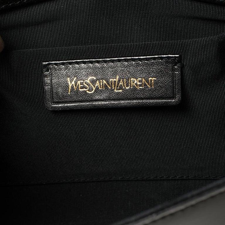 Yves Saint Laurent Black Patent Leather Y-Ligne Clutch For Sale 1