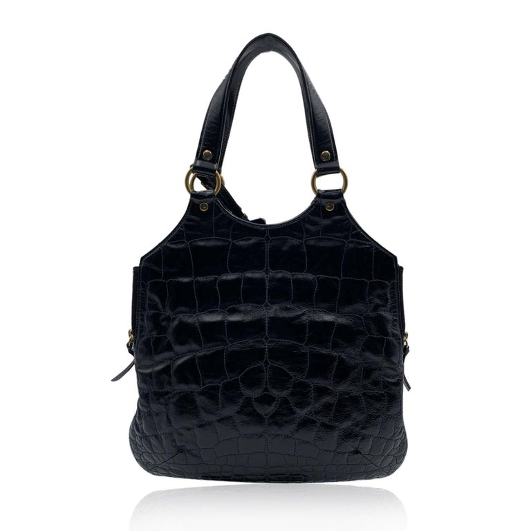Yves Saint Laurent Black Quilted Leather Metropolis Tribute Bag In Excellent Condition For Sale In Rome, Rome