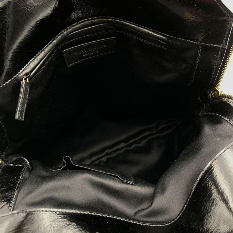 Women's Yves Saint Laurent Black Quilted Leather Metropolis Tribute Bag For Sale