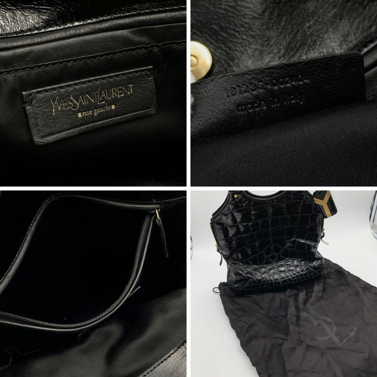 Yves Saint Laurent Black Quilted Leather Metropolis Tribute Bag For Sale 1