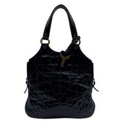 Yves Saint Laurent Black Quilted Leather Metropolis Tribute Bag