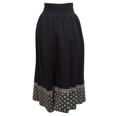 Yves Saint Laurent Black Russian Collection Skirt
