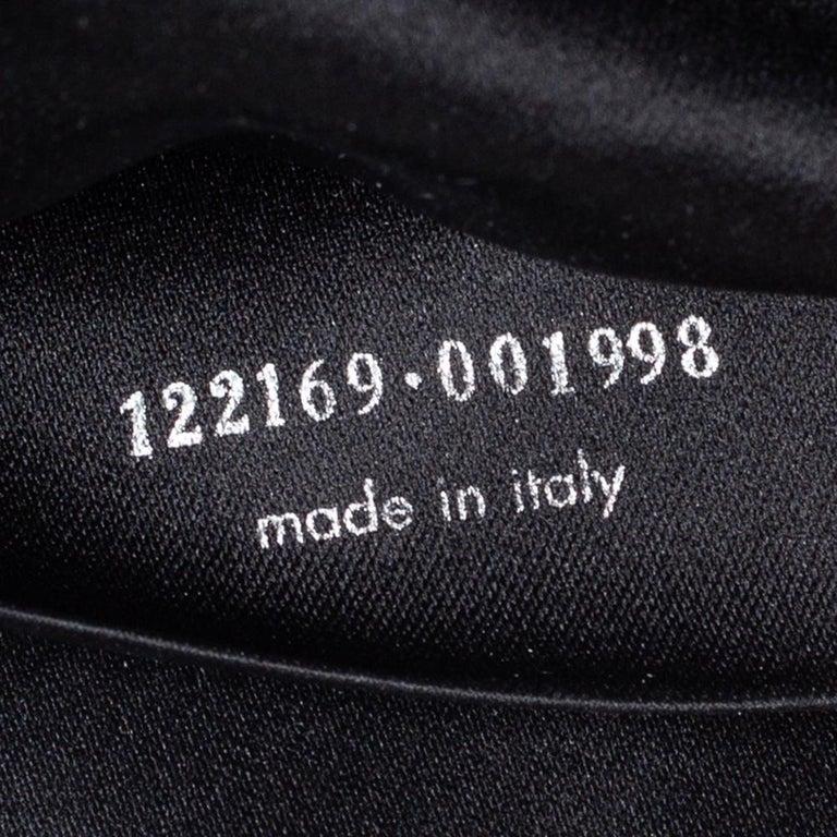 Yves Saint Laurent Black Suede and Leather Chain Link Flap Shoulder Bag For Sale 4