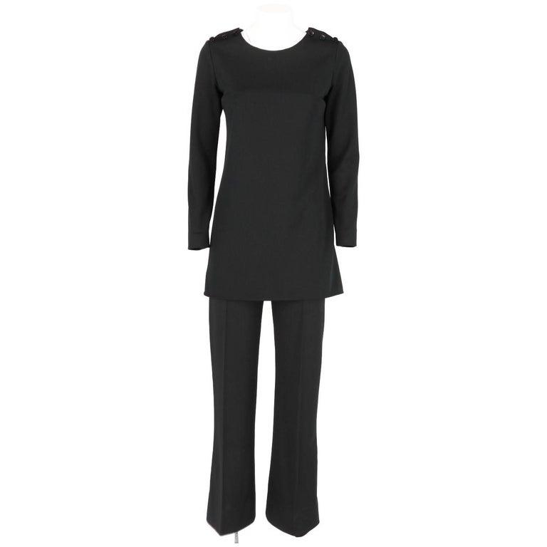 Yves Saint Laurent Vintage Black Suit, 1970s
