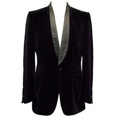 Yves Saint Laurent Black Velvet Blazer  52R