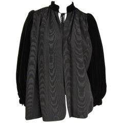 Yves Saint Laurent Black Velvet Russian Collection 1976 Jacket