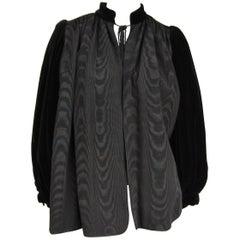 Yves Saint Laurent Black Velvet Russian Collection 1976 Jacket
