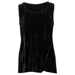 Yves Saint Laurent Black Velvet Sleeveless Top