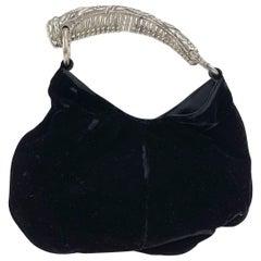 Yves Saint Laurent Black Velvet Small Mombasa Evening Bag