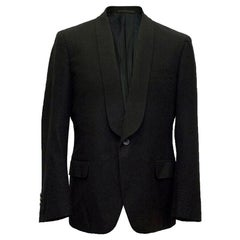 Yves Saint Laurent black wool blazer IT 50 R