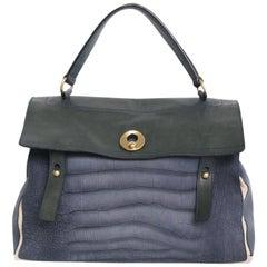 Yves Saint Laurent Blue Leather Muse II Bag