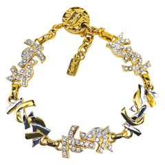 YVES SAINT LAURENT Bracelet YSL Vintage 1980s