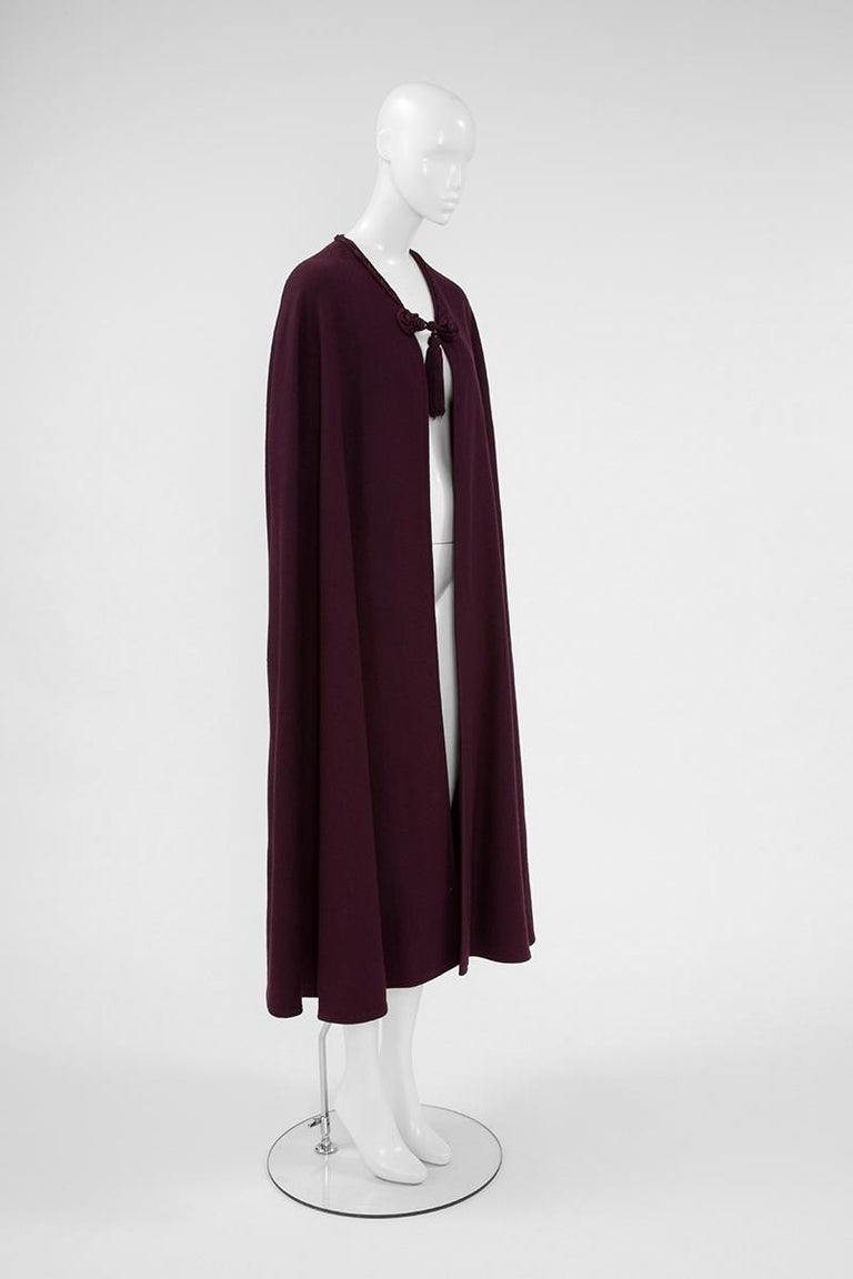 Yves Saint Laurent Braided Toggle Cape In Good Condition For Sale In Geneva, CH