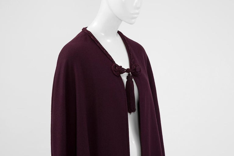 Women's Yves Saint Laurent Braided Toggle Cape For Sale