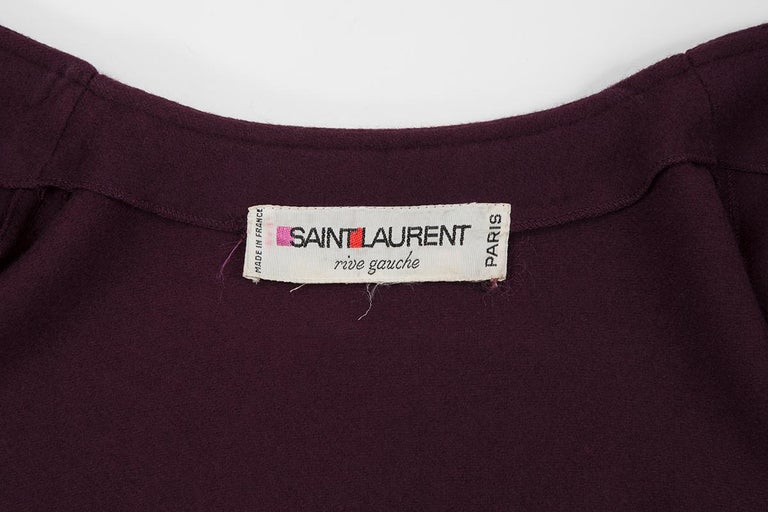 Yves Saint Laurent Braided Toggle Cape For Sale 3