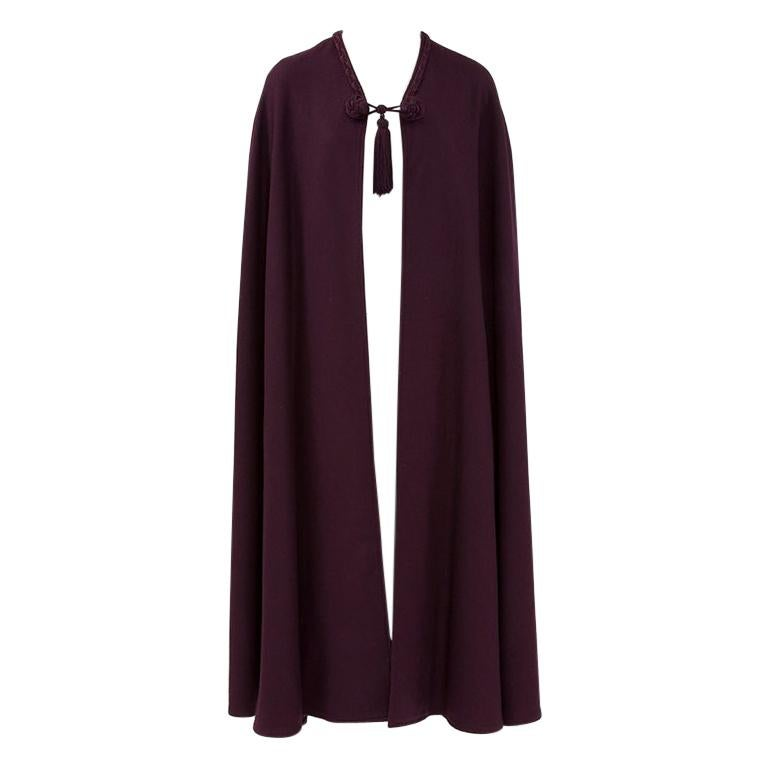 Yves Saint Laurent Braided Toggle Cape For Sale