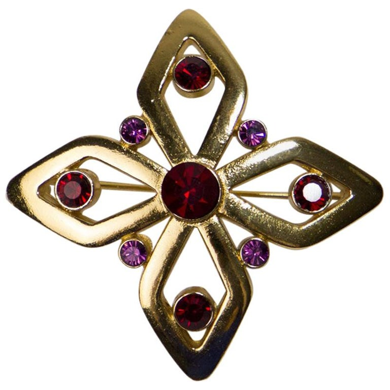 Yves Saint Laurent Brooch For Sale