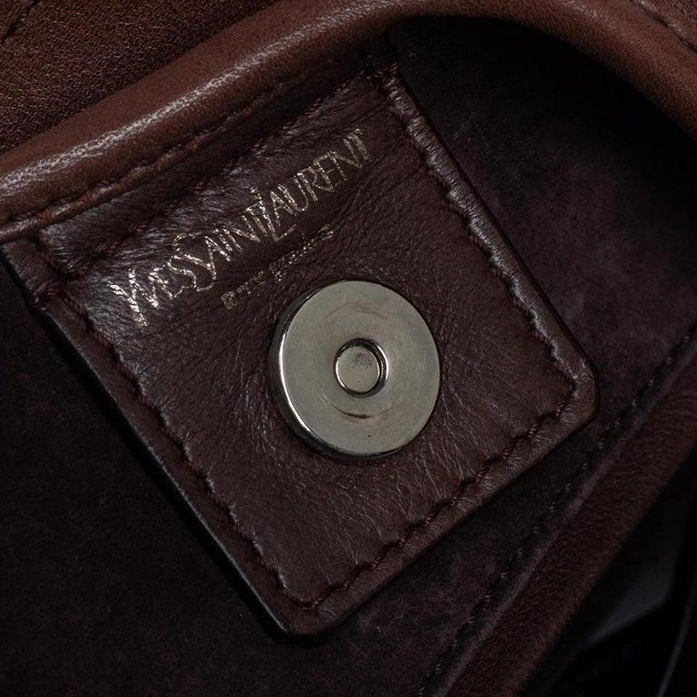 Women's Yves Saint Laurent Brown Studded Hobo For Sale
