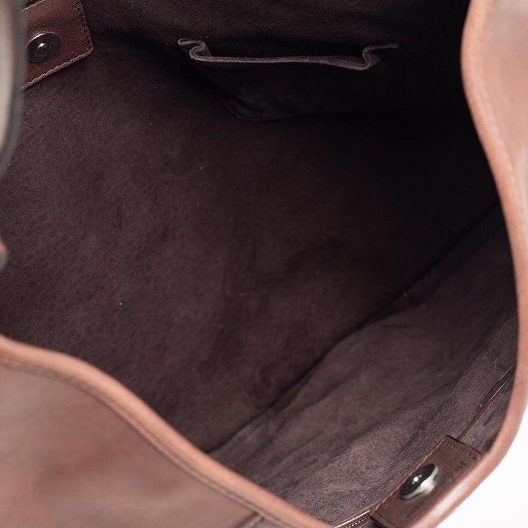 Yves Saint Laurent Brown Studded Hobo For Sale 3