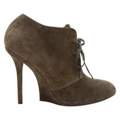 Yves Saint Laurent Brown Suede Booties