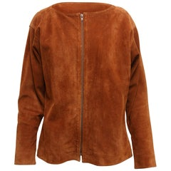 Yves Saint Laurent Brown Suede Jacket