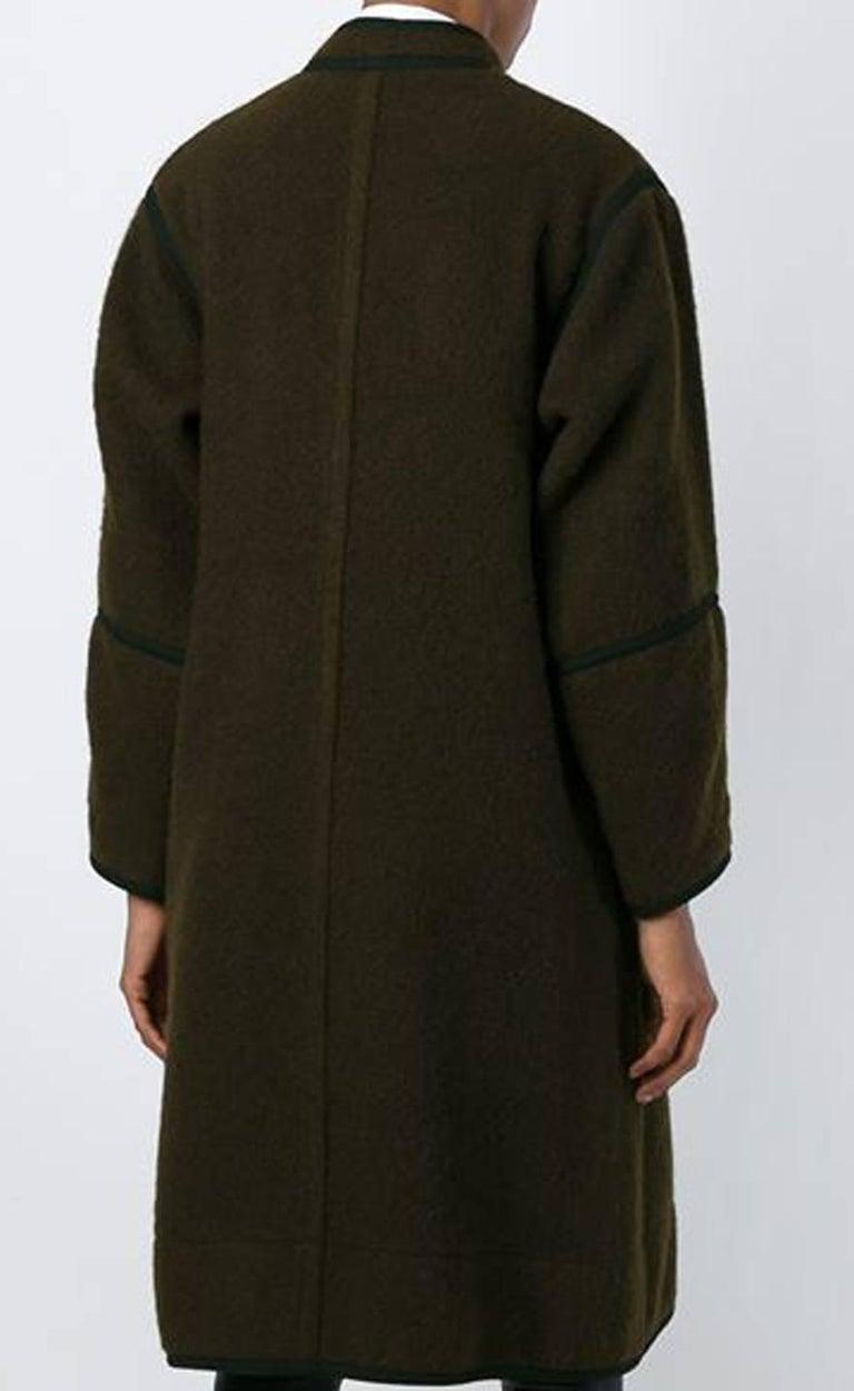Iconic Yves Saint Laurent brown mohair wool