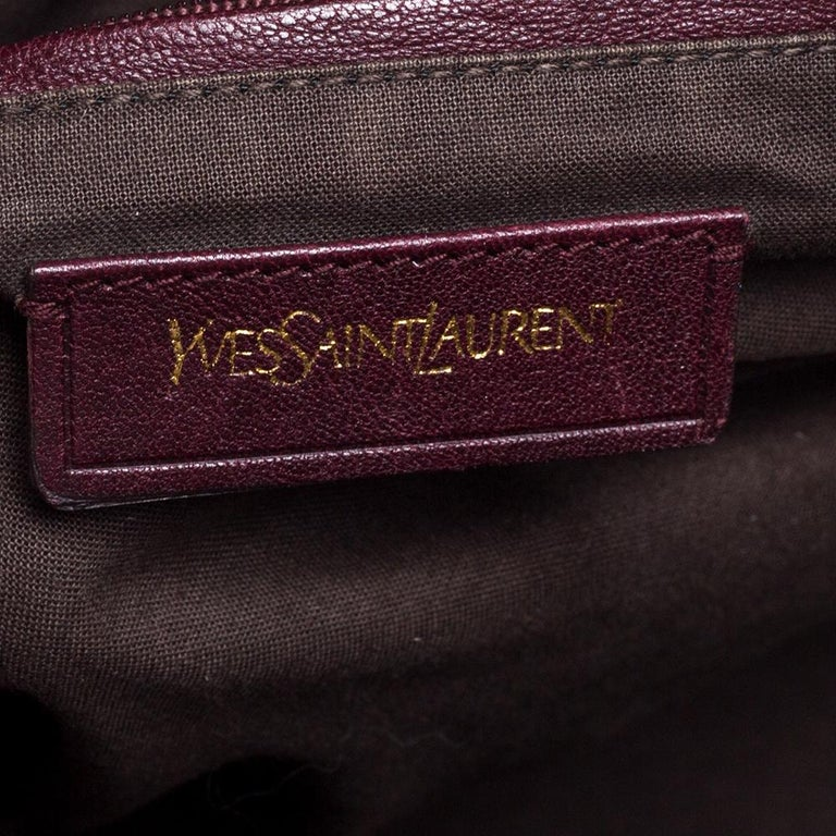 Women's Yves Saint Laurent Burgundy Leather Large Cabas Chyc Tote For Sale