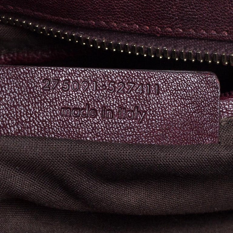 Yves Saint Laurent Burgundy Leather Large Cabas Chyc Tote For Sale 1