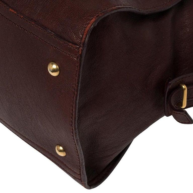 Yves Saint Laurent Burgundy Leather Medium Cabas Y-Ligne Tote For Sale 6