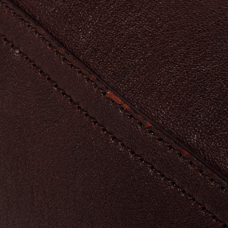 Yves Saint Laurent Burgundy Leather Medium Cabas Y-Ligne Tote For Sale 8