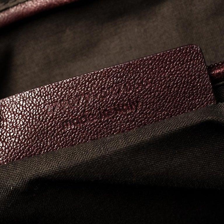Yves Saint Laurent Burgundy Leather Medium Cabas Y-Ligne Tote For Sale 1