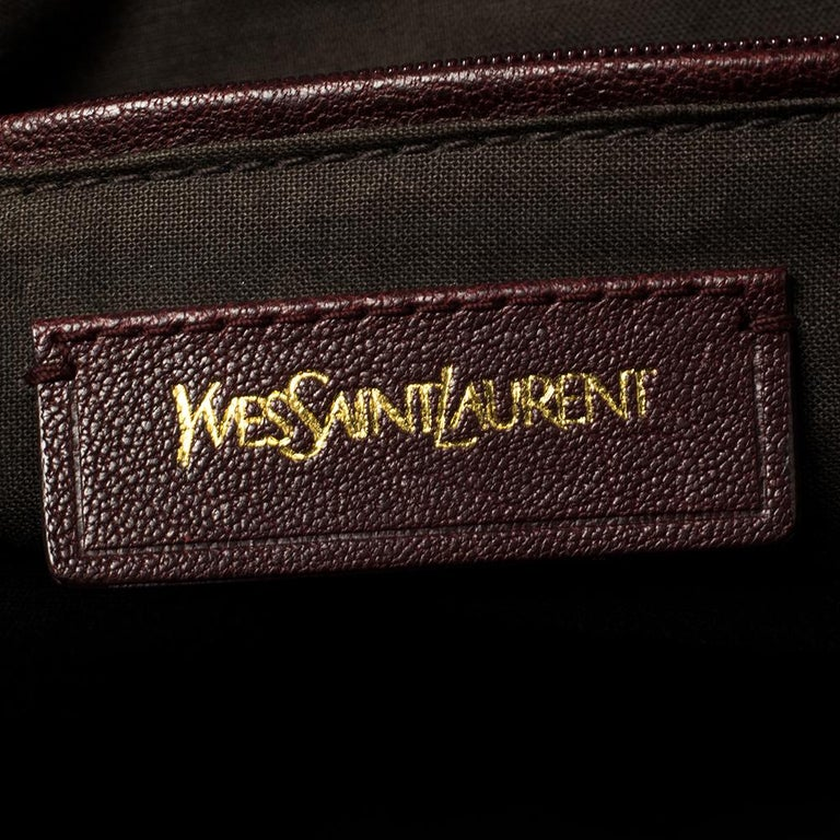 Yves Saint Laurent Burgundy Leather Medium Cabas Y-Ligne Tote For Sale 2