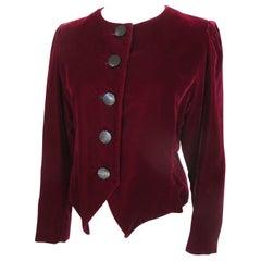 Yves Saint Laurent Burgundy Velvet Jacket