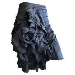 Yves Saint Laurent by Tom Ford Black 3D Rose Blossom Skirt
