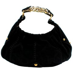 Yves Saint Laurent by Tom Ford Black Suede Mombassa Bag 35cm