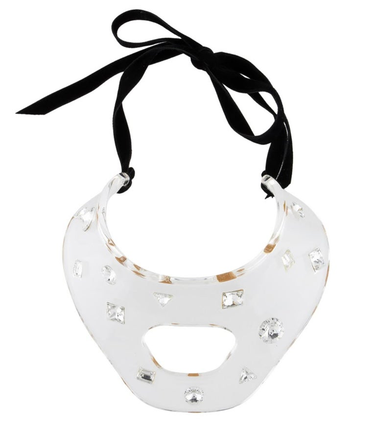 Yves Saint Laurent by Tom Ford Crystal Resin Choker In Excellent Condition For Sale In Austin, TX