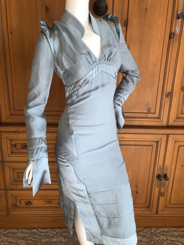 Yves Saint Laurent by Tom Ford Fall 2004 Pagoda Shoulder Dress  For Sale 5