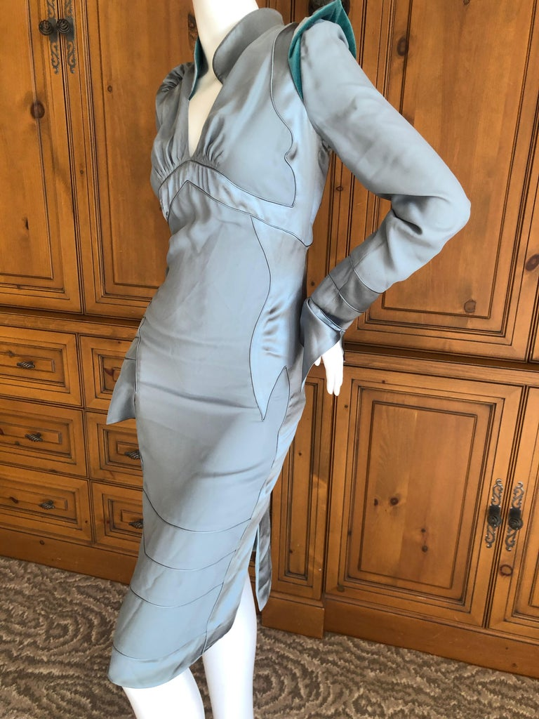 Yves Saint Laurent by Tom Ford Fall 2004 Pagoda Shoulder Dress  For Sale 3