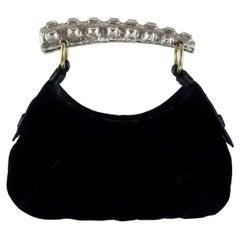 YVES SAINT LAURENT by Tom Ford Mini Velvet Mombasa Bag with Crystal Handle