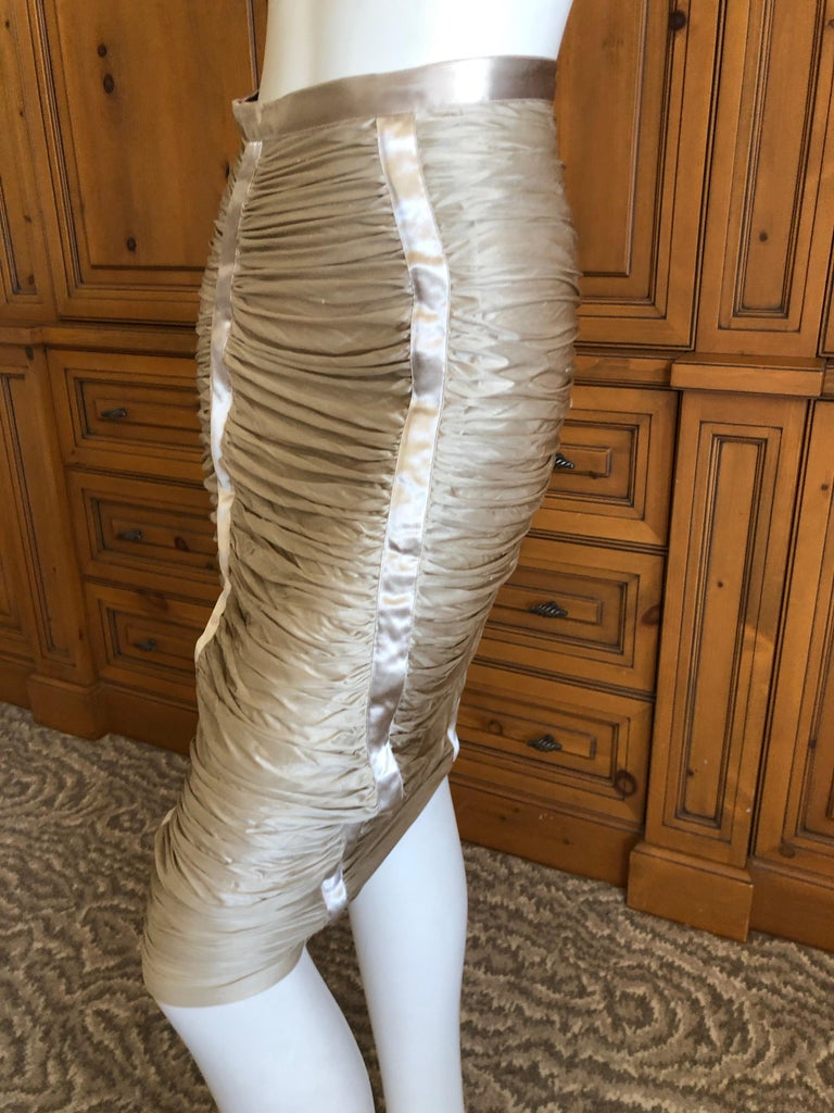 Yves Saint Laurent by Tom Ford Parachute Draped Skirt In Excellent Condition For Sale In San Francisco, CA